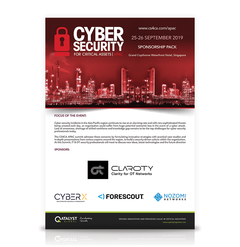 Event Brochures | Cyber Security for Critcial Assets Series